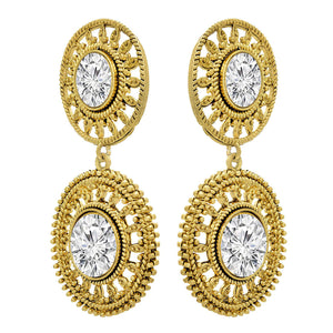 Traditonal Ethnic One Gram Gold Plated Diamond Designer Earring for Women & Girls.
