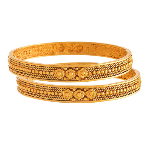 Traditional & Antique Gold Plated Design 2.4 Bangles/ Kada For Women