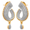 Fusion Ethnic One Gram Gold Plated Cz American Diamonds Designer Earrings for Women & Girls.