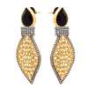Fusion Ethnic One Gram Gold Plated American Diamond Designer Earring for Women & Girls
