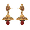 Traditional and Ethnic One Gram Gold Plated Stone & Diamond Designer Jhumki Earring for Girls and Women.