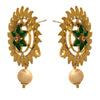 Traditional Ethnic One Gram Gold Plated Diamond & Pearl With Floral Designer Earring For Women & Girls.