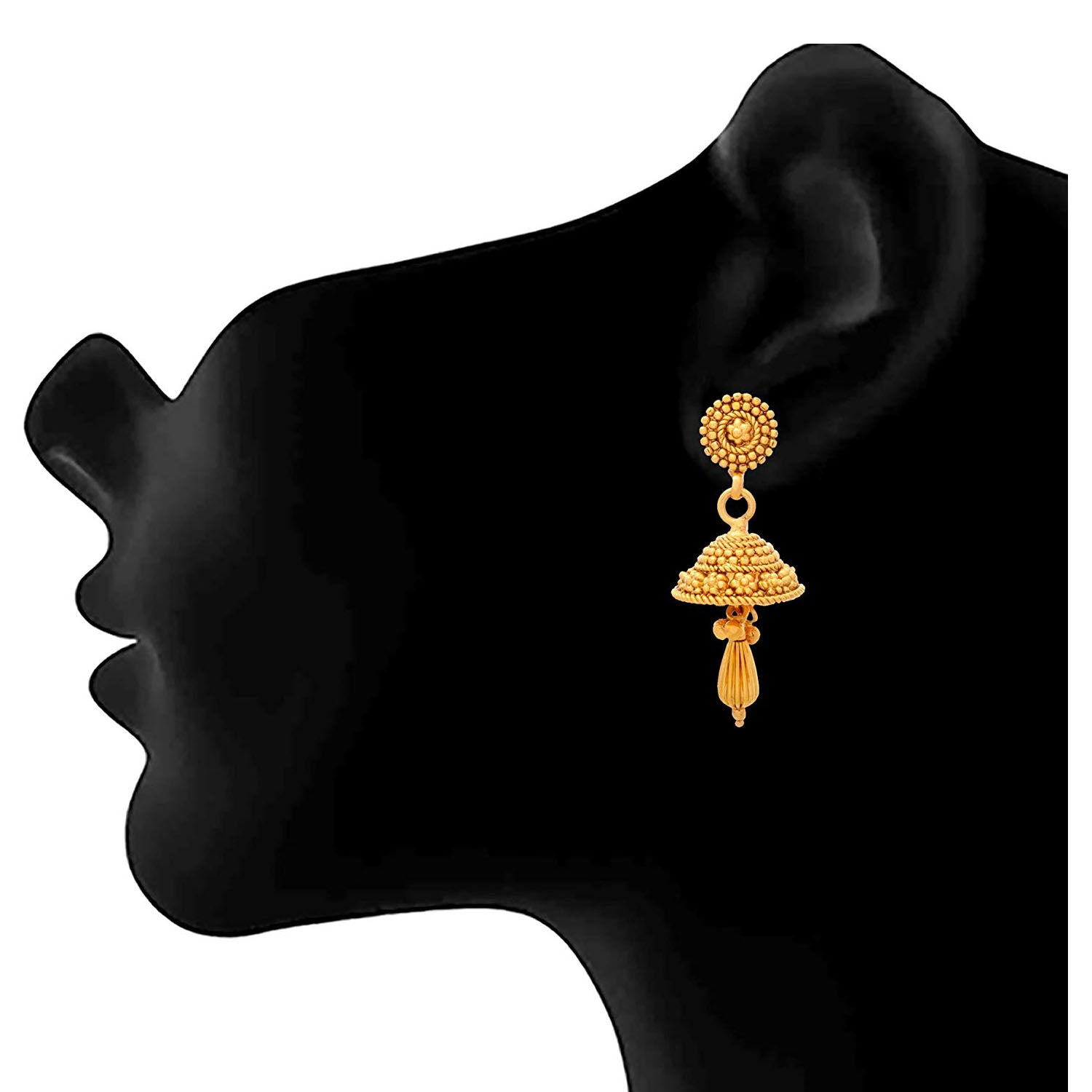 JFL - Traditional Ethnic One Gram Gold Plated Designer Jhumki Earring for Women & Girls