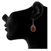 Traditional Ethnic Handmade German Silver Plated Oxidised Semi Precious Stone Designer Earring For Women & Girls.