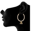 JFL - Traditional Ethnic One Gram Gold Plated Diamond & Pearls Designer Bali Earring for Women & Girls