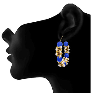 JFL - Traditional Ethnic One Gram Gold Plated Pearl Designer Earring for Girls & Women.