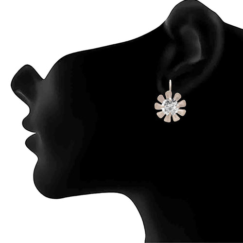 JFL - Traditional Ethnic One Gram Silver Plated Diamond Designer Earring for Women & Girls.