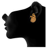 Peacock Designer One Gram Gold Plated copper Stud Earrings For Woman and Girls