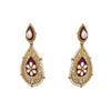 JFL - Exclusive Earring with Intricate Craftmenship, Meenakari, Kundan & Pearls.