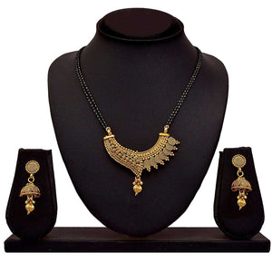 Traditional Copper With Gold Plated Necklace Set For Women's By BFC