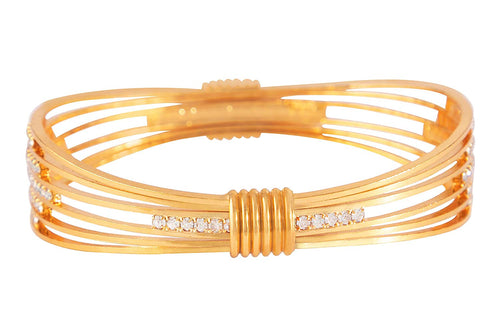 JFL - Jewellery for Less Modern Fusion Austrian Diamond Studded Bangle Kada for Girls & Women.