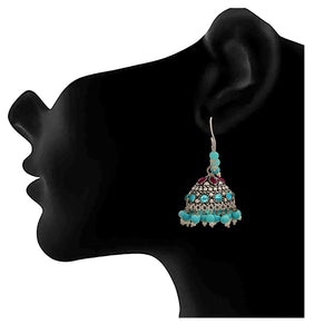 Traditional Ethnic Handmade German Silver Plated Oxidised Designer Earring For Women & Girls.