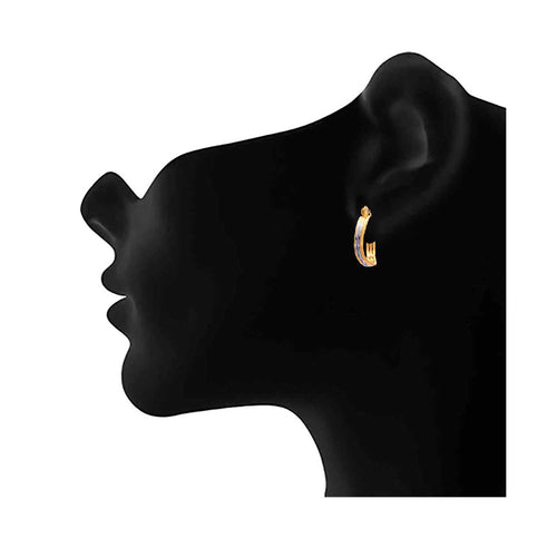 JFL - Glowing Gold n Silver Designer One Gram Gold Plated Bali for Women