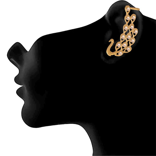 JFL - Traditional Ethnic & Fusion One Gram Gold Plated Peacock Designer Earring for Women & Girls