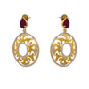 Dazzling Cz Diamond Gold Designer Earring.