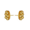 JFL -Traditional One Gram Gold Plated Bead With Stud Earrings For Women & Girls.