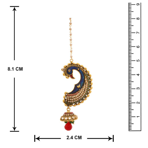 JFL - Traditional Ethnic One Gram Gold Plated Peacock Pearls Designer EarCuff Earring for Women & Girls.