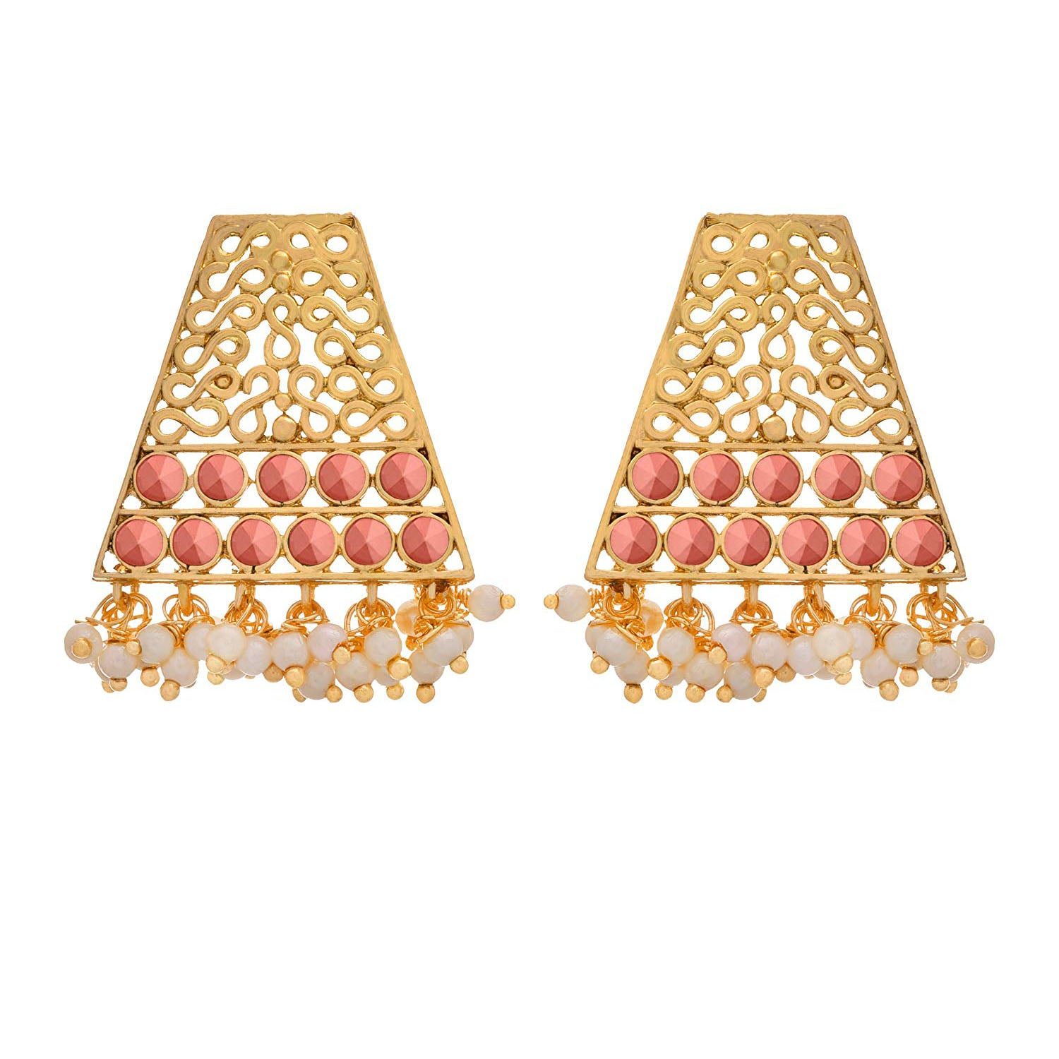 Traditional Ethnic One Gram Gold Plated Designer Earring For Women & Girls.