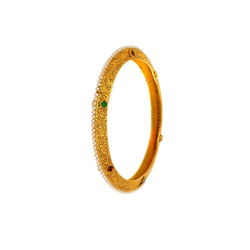 JFL -Traditional & Ethnic Gold Designer Bangle.