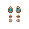 JFL - Traditional Designer One Gram Gold Plated OrangeEarring studded with Pearls for Women