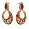Jewellery for Less One Gram Gold Plated Polki & Austrian Diamond Designer Earring For Women & Girls