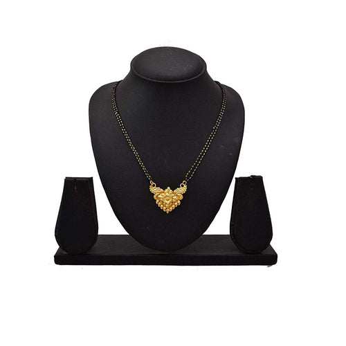 JFL - Traditional Ethnic One Gram Gold Plated Designer Mangalsutra set for Women.