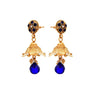 JFL - Traditional Ethnic One Gram Gold Plated Blue Stone Designer Jhumki Earring for Women & Girls