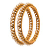 JFL - Traditional Ethnic One Gram Gold Plated Pearl Designer Bangle for Women & Girls