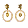 JFL-Traditional Ethnic One Gram Gold Plated Pearls Designer Earrings for Women and Girls.