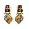 JFL - Traditional Ethnic One Gram Gold Plated Meenakari Diamond Designer Earring for Women & Girls.