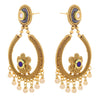 Jewellery for Less Traditional Ethnic One Gram Gold Plated Spiral Pearl Designer Earring For Women & Girls.