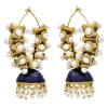 JFL - Stylish Ethnic One Gram Gold Plated Meenakari Pearls Designer Jhumki Bali Earring for Women & Girls