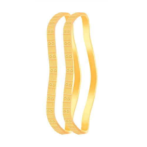 JFL - Traditonal Ethnic One Gram Gold Plated Designer Bangles for Womens & Girls.