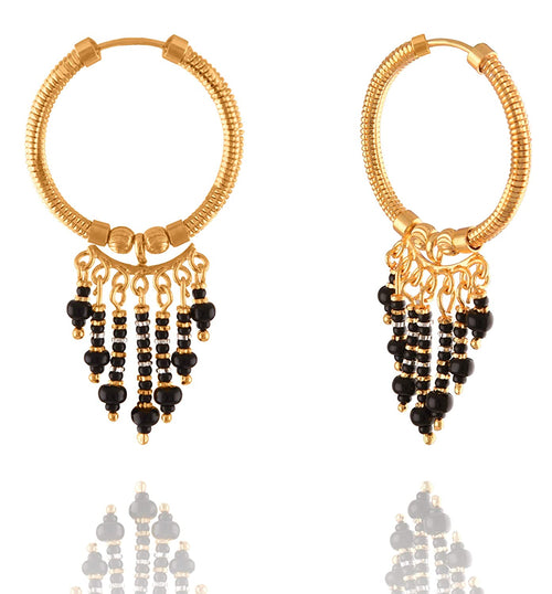 JFL - Jewellery For Less Traditional Ethnic Designer Gold Plated Hoop Bali Earring For Women's