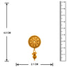 JFL - Jewellery for Less One Gram Gold Plated Designer Stud Drop Earring for Women & Girls