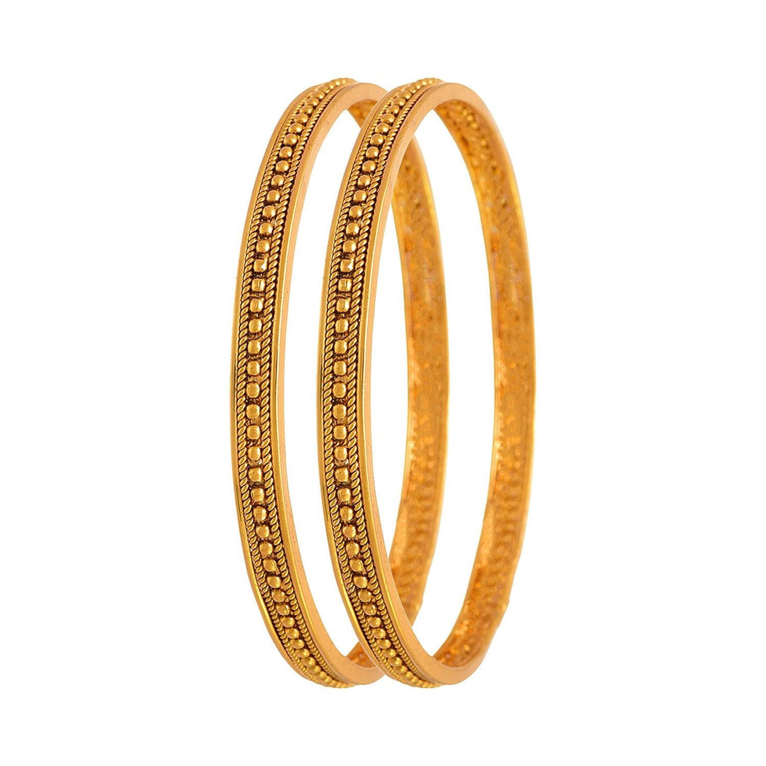 Traditional Ethnic One Gram Gold Plated Bead Designer Bangles for Women
