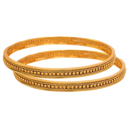 BFC- Buy For Change Traditional One Gram Gold Plated Gold Bead Designer Pair Bangles for Women