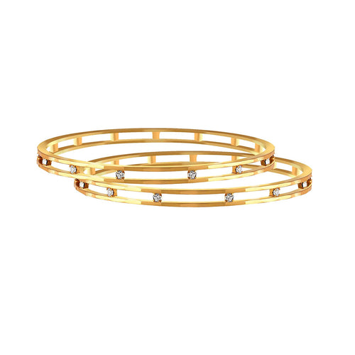 BFC- American Diamond Designer Gold Plated Bangle for Woman