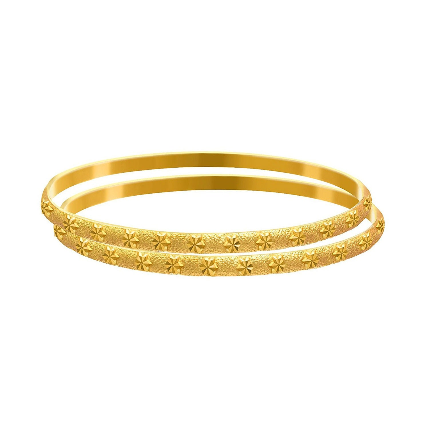 Traditional Ethnic One Gram Matt Gold Plated Designer Bangle Set for Women