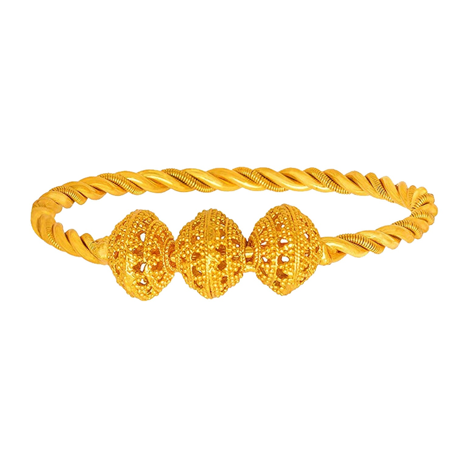 JFL - Modern Ethnic Stylish Bead Ball One Gram Gold Plated Designer Bangle Kada for Girls and Women