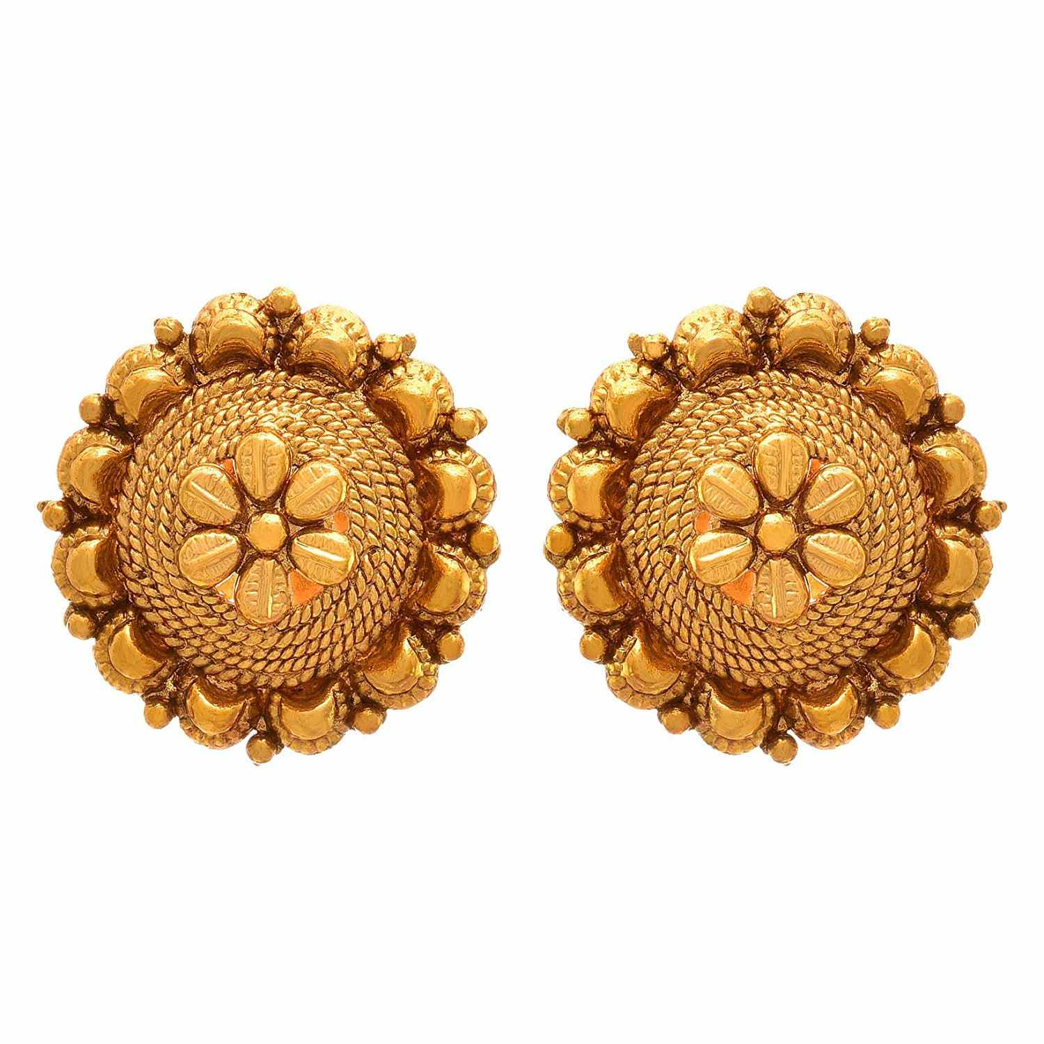 abaf3b0dc JFL - Traditional Ethnic One Gram Gold Plated Designer Stud Earring for  Women & Girls