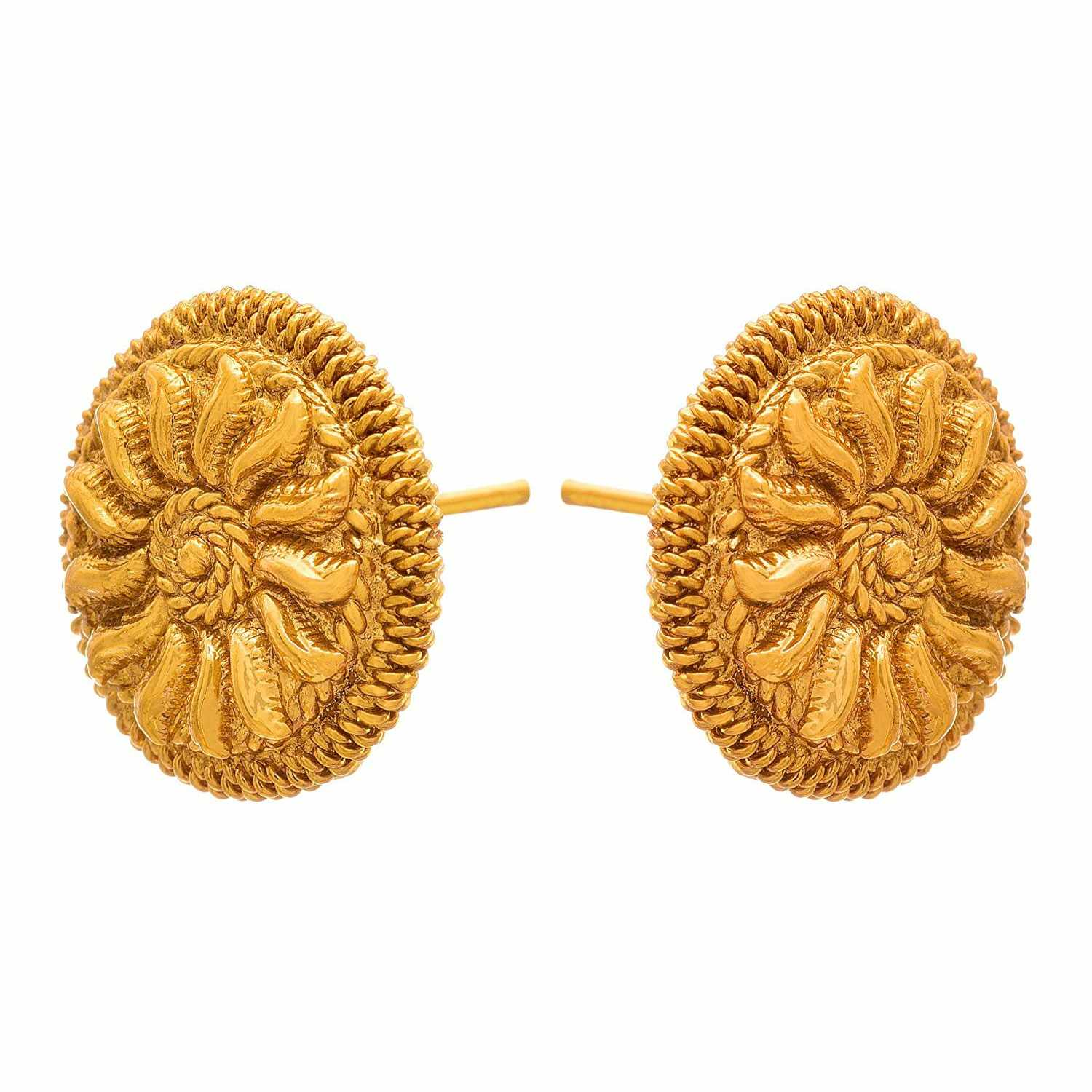 JFL - Traditional Ethnic One Gram Gold Plated Designer Stud Earring for Women & Girls