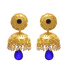 JFL - Traditional Ethnic One Gram Gold Plated Stone Pearl Designer Jhumki Earring for Women & Girls.