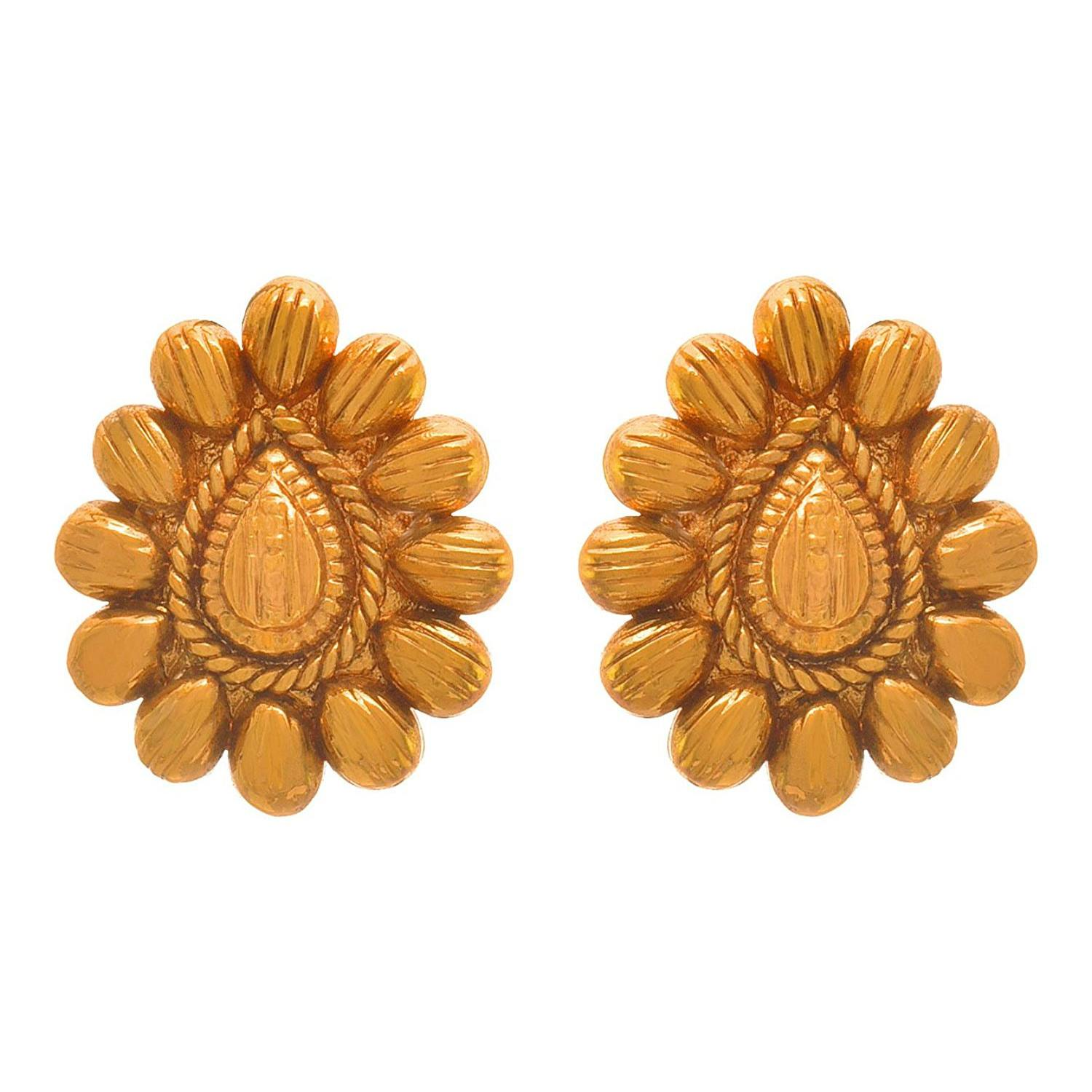 JFL - Traditional Ethnic One Gram Gold Plated Designer Stud Earring for Women