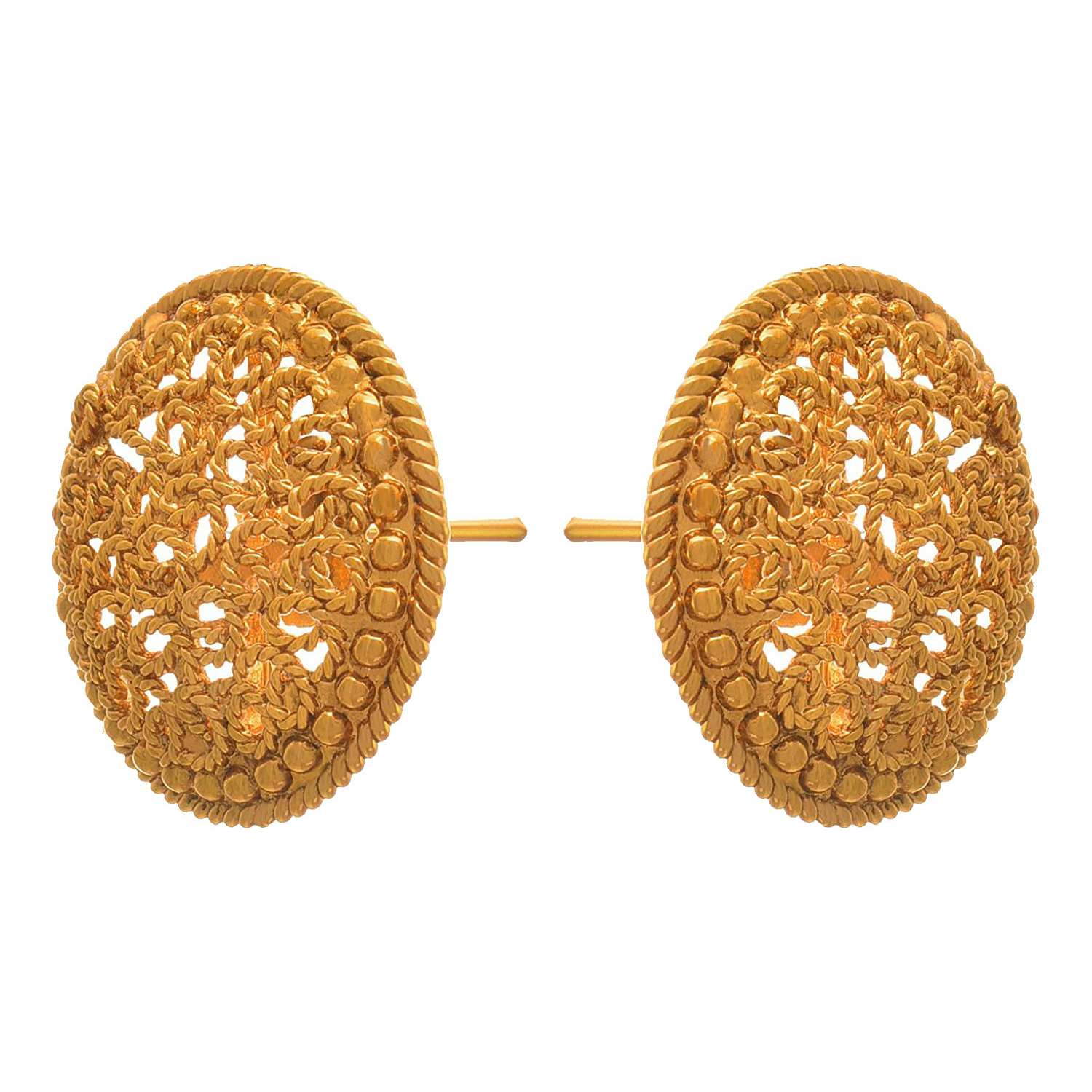 Traditional Ethnic One Gram Gold Plated Designer Stud Earring For Women