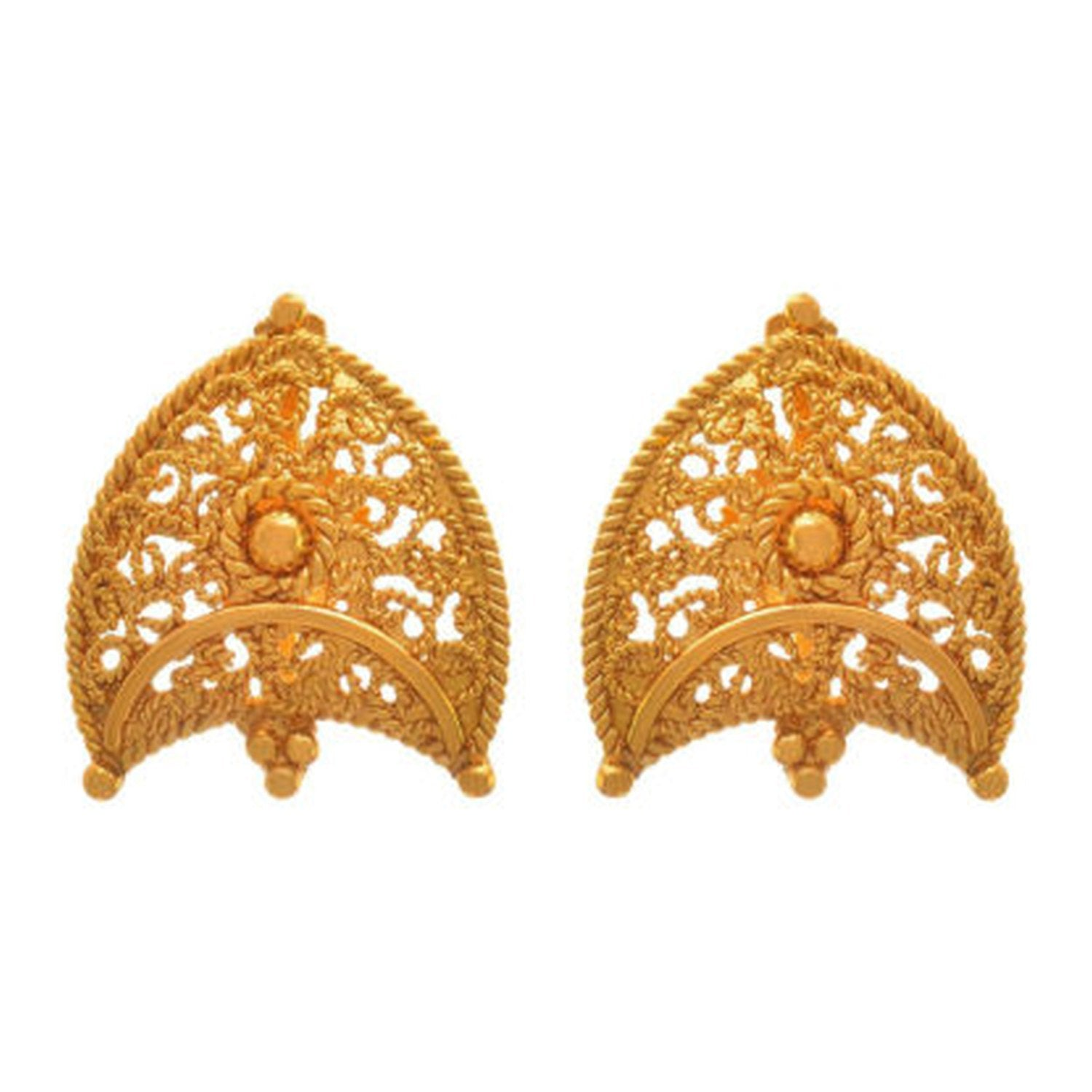 JFL - Jewellery For Less Traditional Ethnic One Gram Gold Plated Designer Stud Earring For Women & Girls