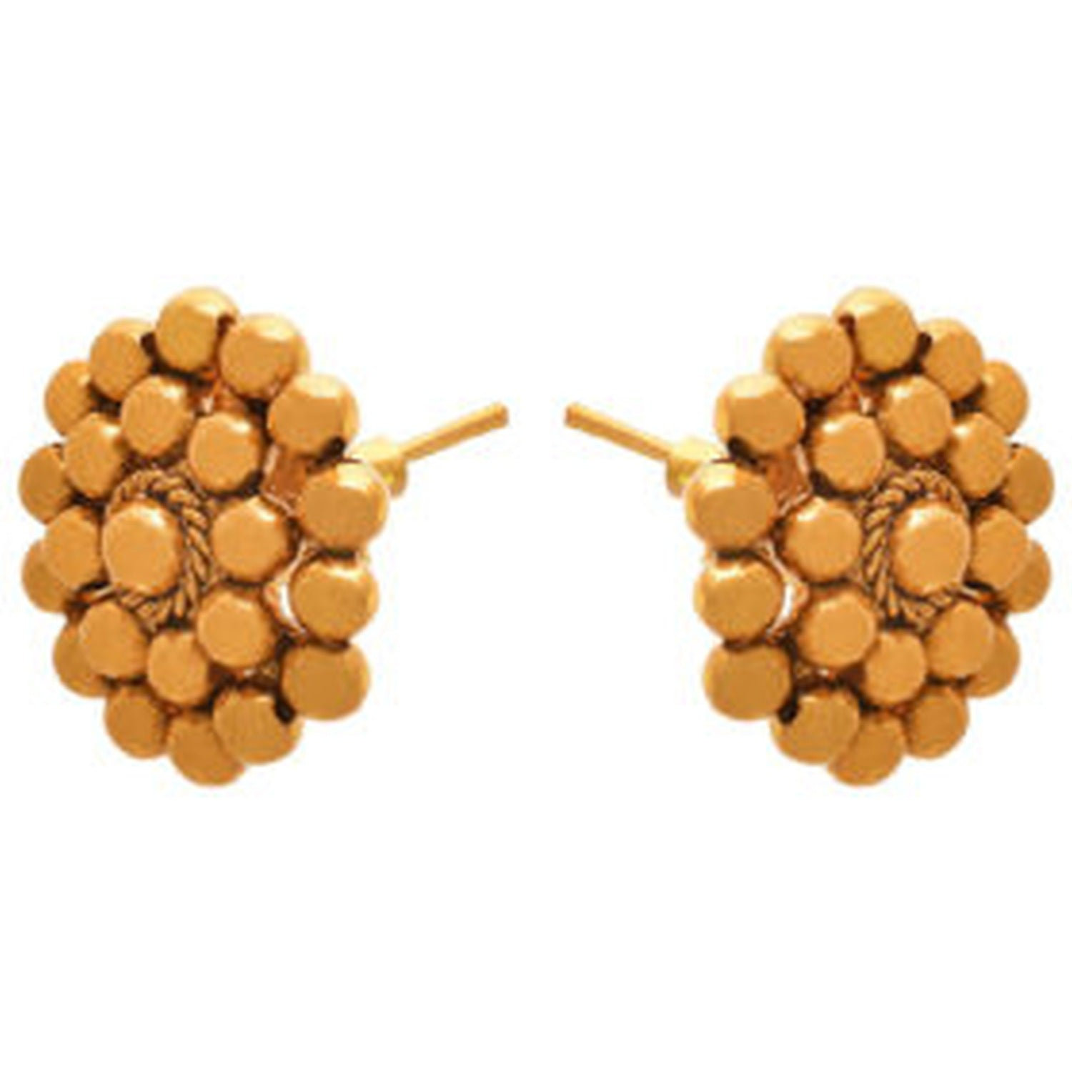 JFL - Jewellery for Less Traditional Ethnic One Gram Gold Plated Designer Stud Earring for Women