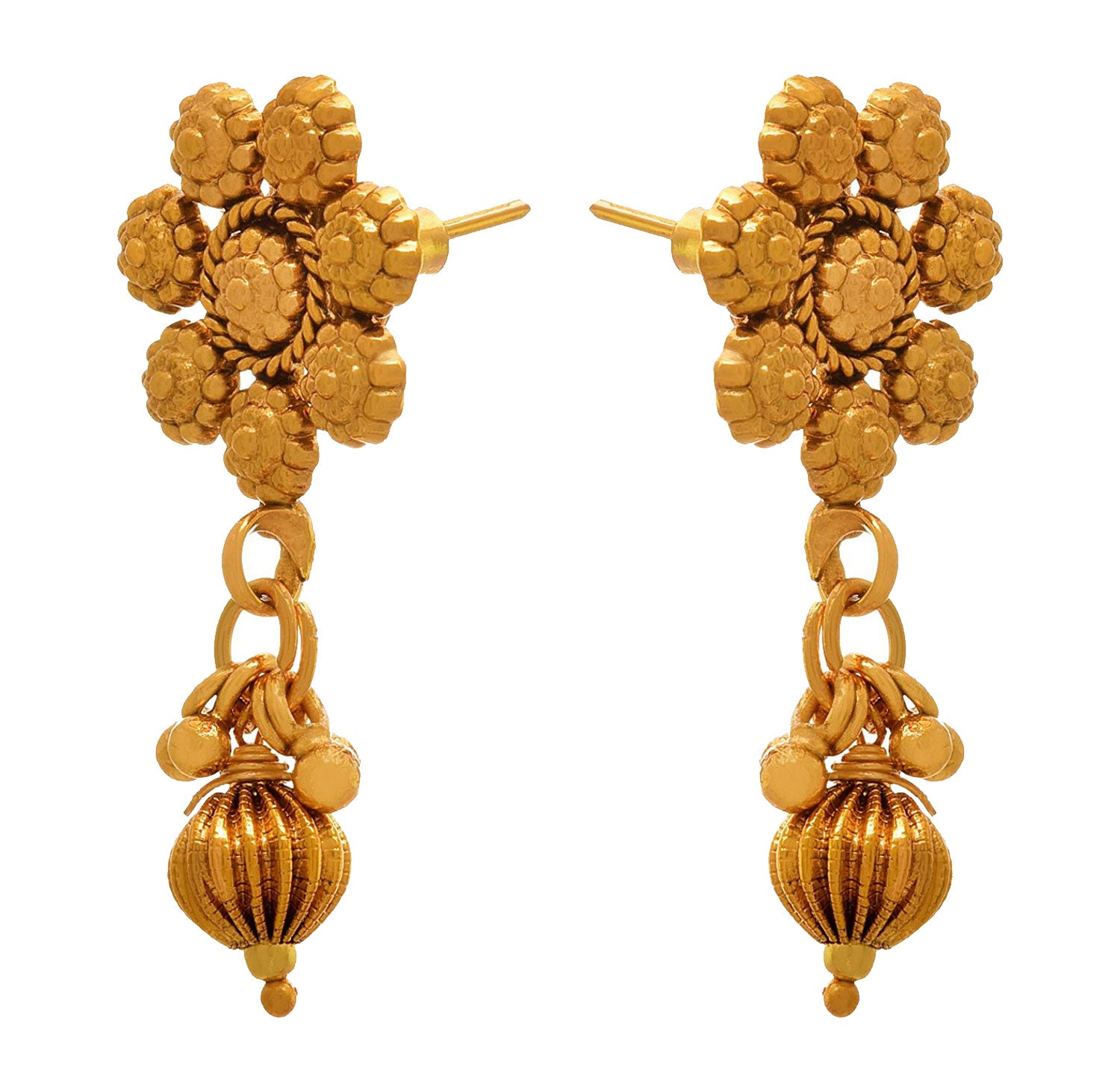 JFL- Traditional Ethnic One Gram Gold Plated Designer Earrings for Girls & Women.