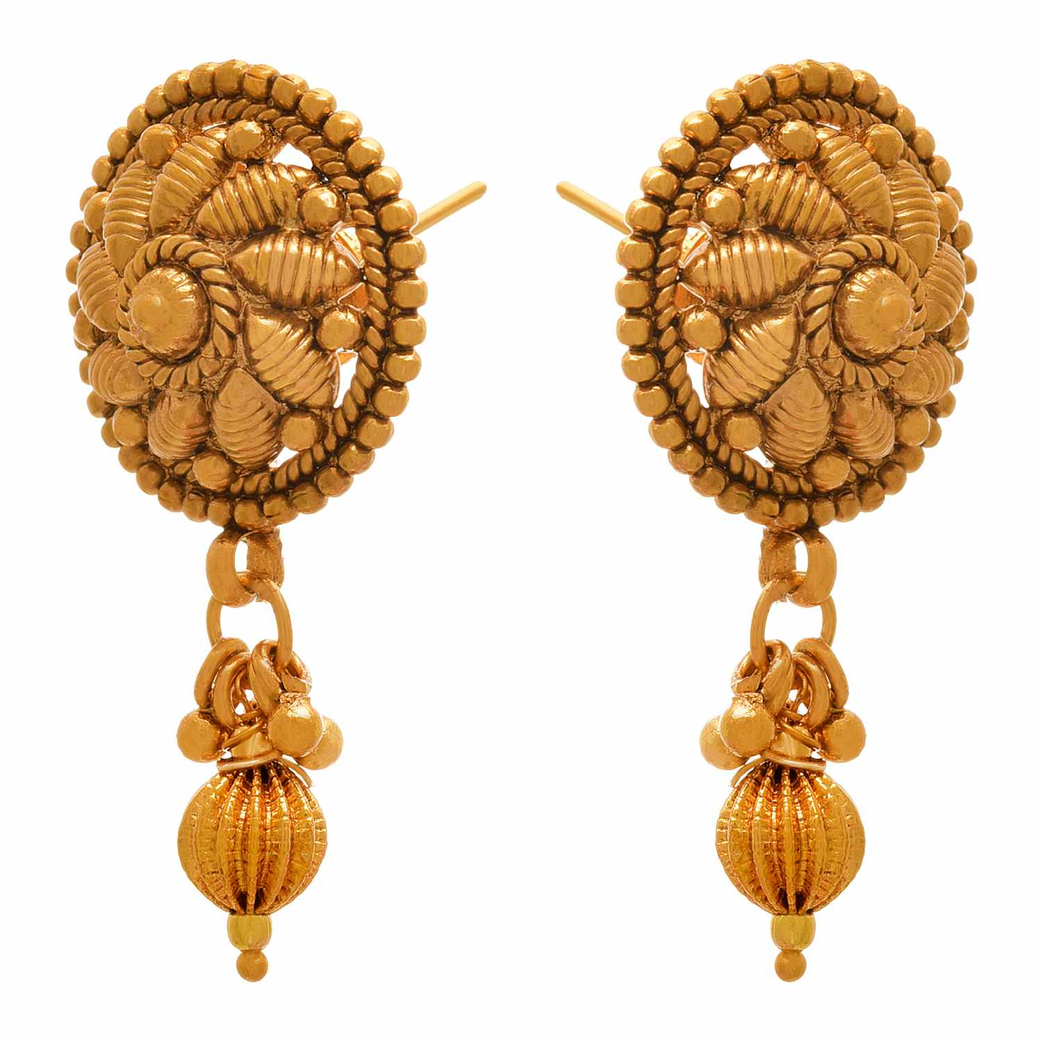 JFL - Jewellery for Less Traditional Ethnic One Gram Gold Plated Designer Earrings for Women