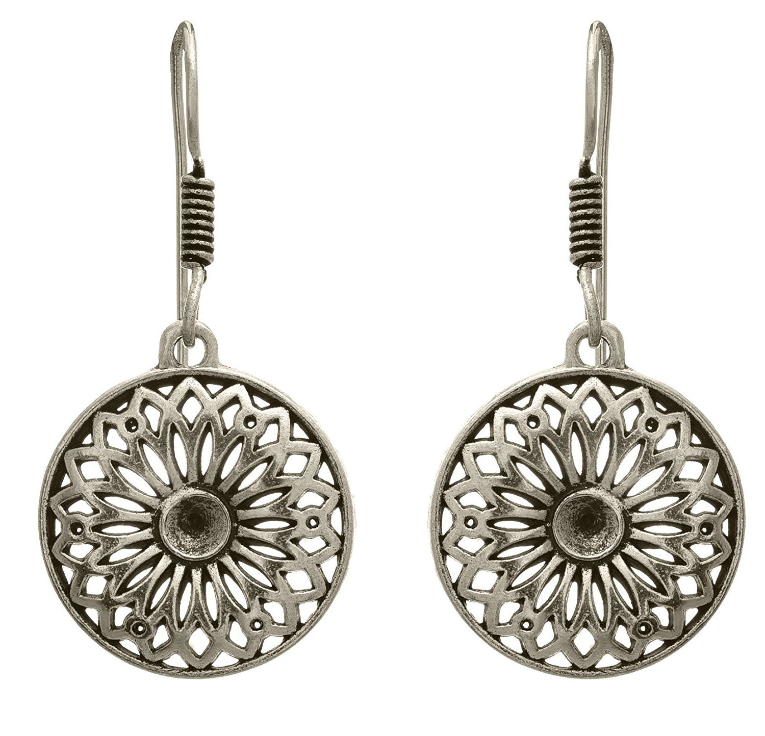 JFL - Traditional Ethnic Handmade German Silver Plated Oxidised Designer Earring for Women & Girls.